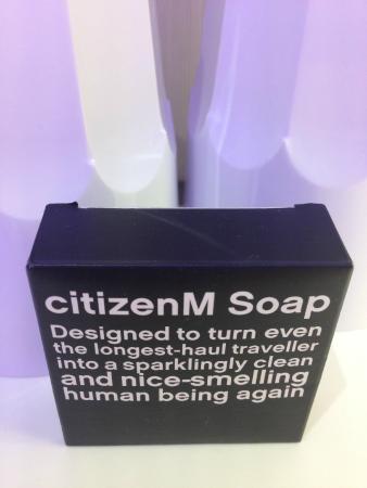 citizenM Paris Charles de Gaulle Airport Hotel: Soap