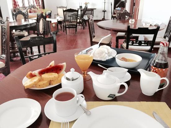 Blue Seas Guest House : Vegetarian breakfast