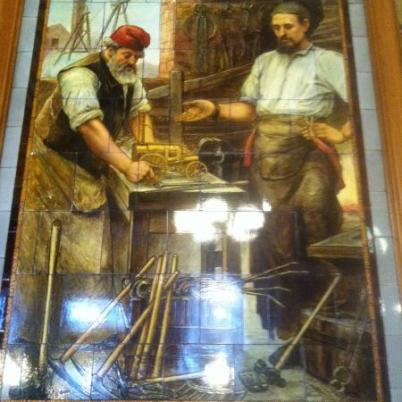 Ceramic tiles of Victorian inventors 3 - Picture of The Cafe Royal ...