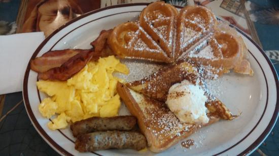 one of the breakfast sampler platters