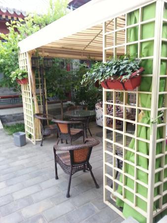 Beijing Ron Yard Hotel: 中庭休憩處