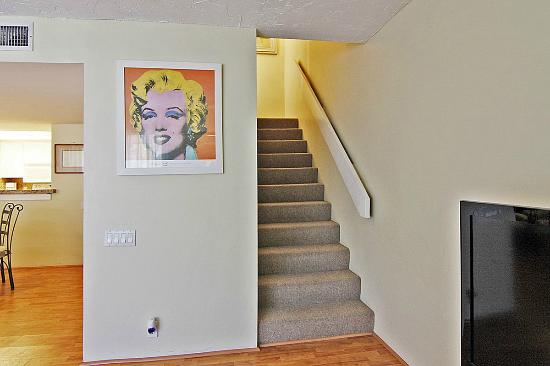 Bird's Nest Apts: Stairs to the master bedroom