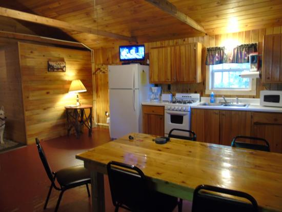 Danforth, ME: our kitchenette and main room