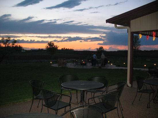 Janesville, MN: Sunset at winery