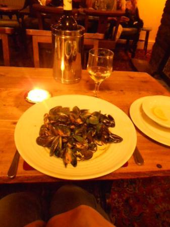Riverside Inn at Aymestrey: Mussels!
