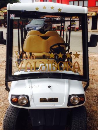 Villa Valdibora: The golf buggy taxi service!
