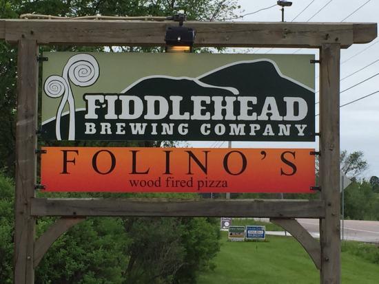 Folino's Wood Fired Pizza: Fiddlehead brewing company & Filino's wood fire pizza