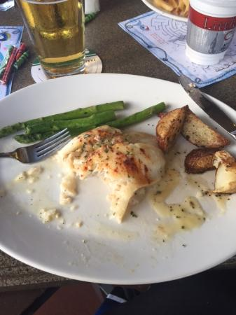 Crab stuffed flounder picture of mitchell 39 s fish market for Fish market jacksonville