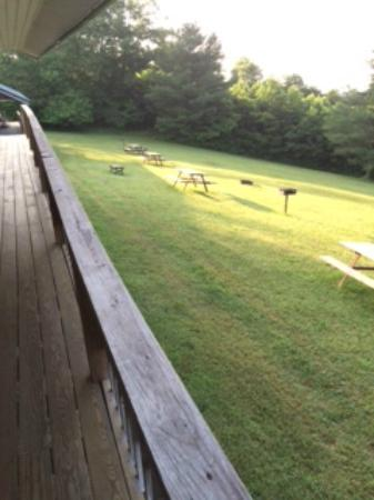 Fancy Gap Cabins & Campground: view from porch
