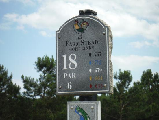 Calabash, NC: Hole #18-par 6 767 yards from the tips....Unique and interesting hole1