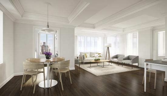 AKA Sutton Place: Sutton Place Living Room(images are artists' renderings)