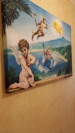 B&B Il Mare degli Dei: Baia di Letojanni rappresentata artisticamente