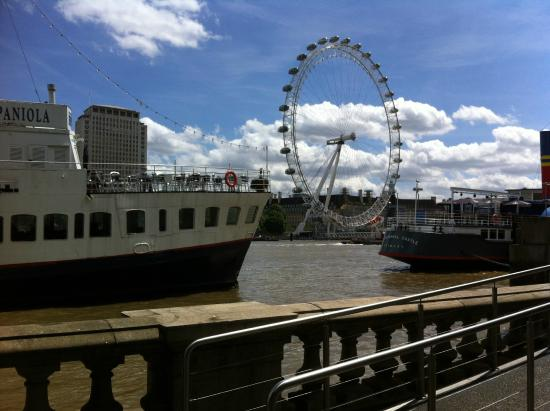 View Of London Eye From Hispaniola Picture Of R S Hispaniola