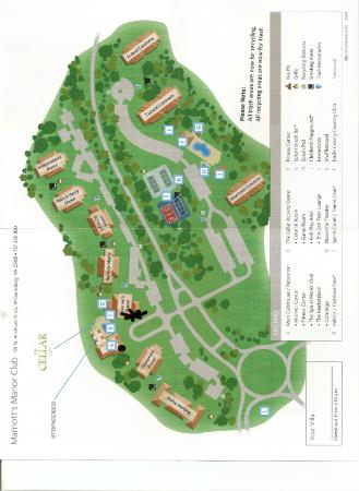 Marriott's Manor Club at Ford's Colony: Map of the grounds