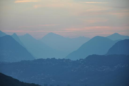 Albergo Ristorante Stampa: Blick aus Zimmer 115 morgens um 5 Uhr