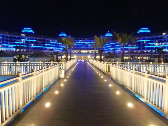 View Of Hotel At Night Picture Of Sueno Hotels Deluxe Belek Belek