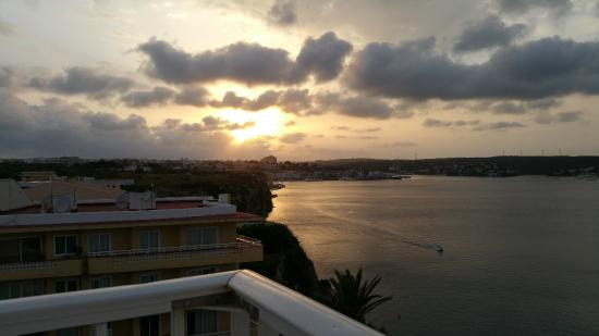 Hotel Agamenon: The sunset from the balcony. Wow!
