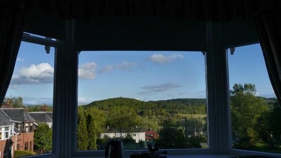The Bield Guesthouse: Blick vom Bett