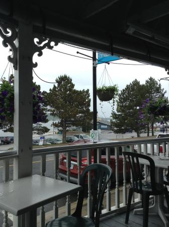 Bay Street Cafe: view of harbour from the covered porch