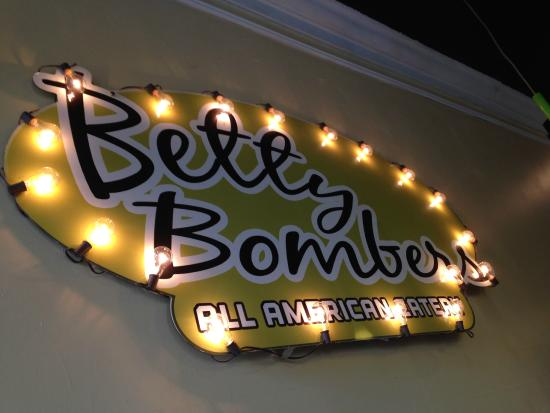 Betty Bombers: Sign above our booth