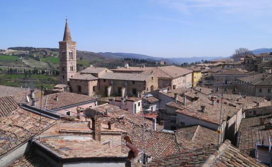 Hotel Raffaello : View from top floor suite