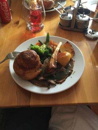 McHalls Bistro: my roast lamb dinner yummy