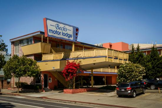 front of hotel picture of beck 39 s motor lodge san