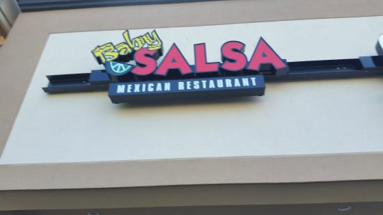 Exterior Signage, Baby Salsa     University Mall, Nanaimo, British Columbia, Canada