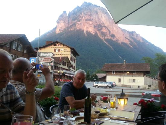 Hotel Restaurant Urweider : Outside seating and views