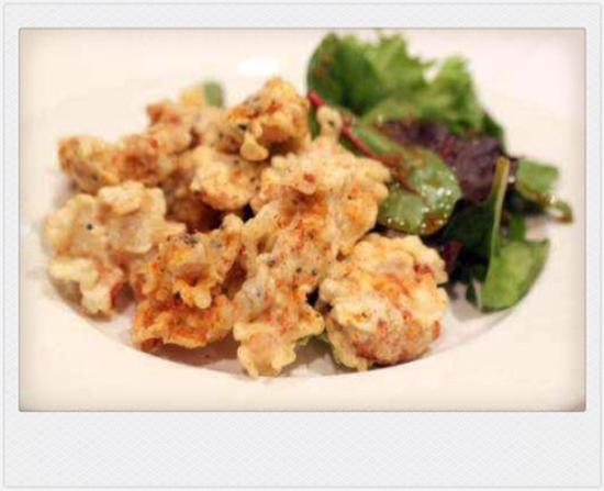 Ayame Japanese Restaurant: Tatsuta-Age ChickenCrispy spicy Chicken served with warm light soy & mayonnaise.