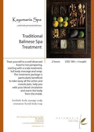 Kayumanis Spa Jimbaran: Traditional Balinese Spa Treatment