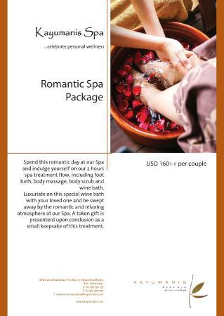 Kayumanis Spa Jimbaran: Romantic Spa Package