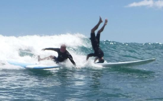Gone Surfing Hawaii: Guess which one is me, and which is the instructor?