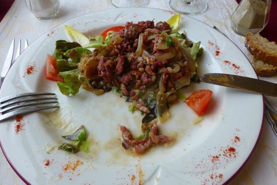 Restaurant Le Bellevue : salade de gésiers confits