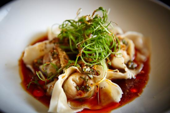 Billy Kwong: Steamed prawn wontons with organic brown rice vinegar dressing