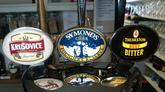 Southport, ME: Beer selection. The hand pulled real ales change regularly.