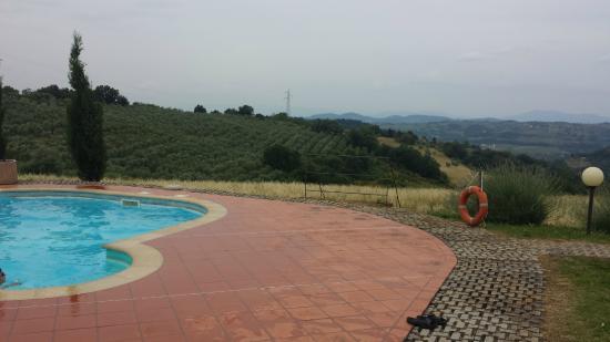 Tenuta Il Corno: Panorama dalla piscina