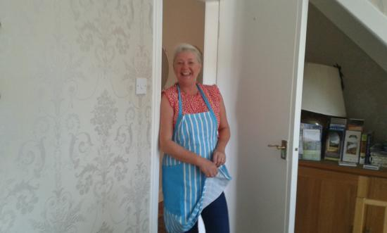 Woodvale B&B: always smiling: Alison loves caring for you