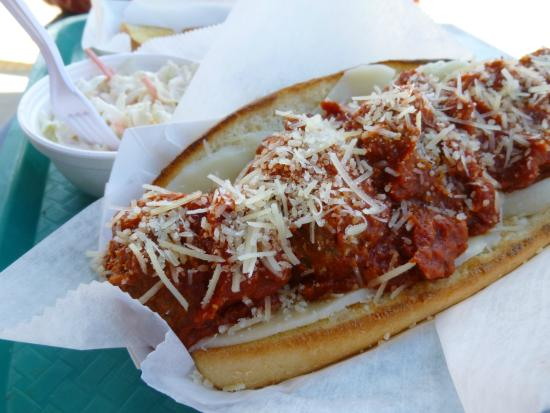 Meatball sub at Mitchell Stage Stop / Little Pine Cafe