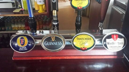 Llechryd, UK : Beers  and lagers ciders etc