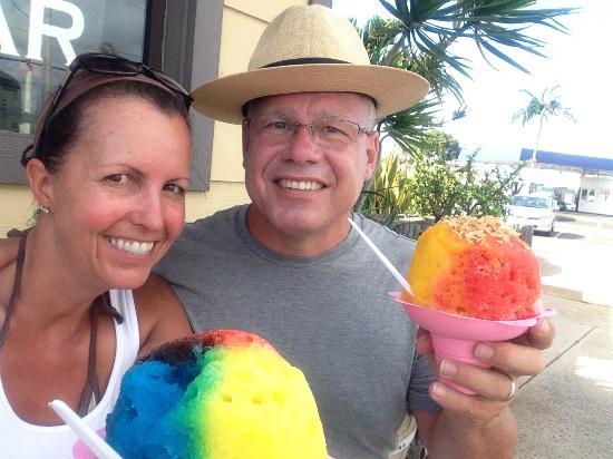 Ululani's Hawaiian Shave Ice : Mine's better than his! :)