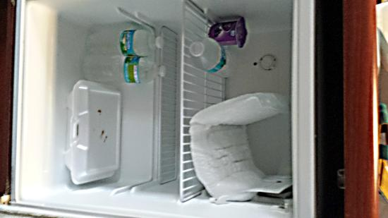 Microtel Inn & Suites by Wyndham Marianna: refrigerator freezer that has never been defrosted