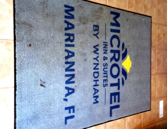 Microtel Inn & Suites by Wyndham Marianna: Stained entrance rug