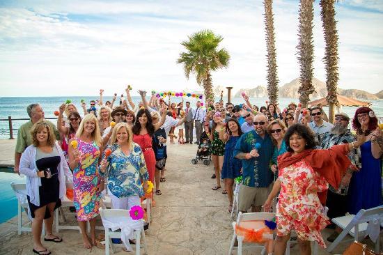 Villa Del Palmar Beach Resort Spa Los Cabos Wedding Guests Ready To Get