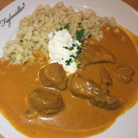 Veal goulash and spatzle - Picture of Figlmueller, Vienna ...