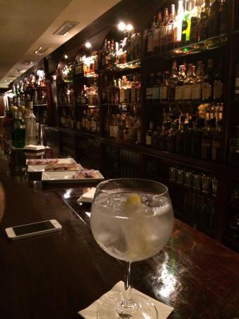 Tandem Cocktail Bar: Gin and tonic at the bar