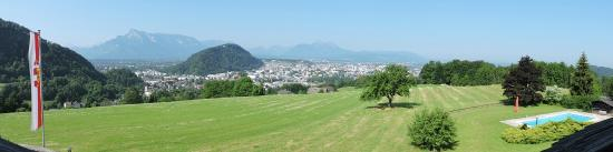 Schöne Aussicht: A panoramic shot of the view from our first floor room