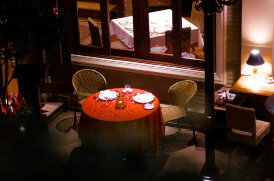 Restaurante Grano de Oro: La vista a nuestra mesa desde el segundo piso