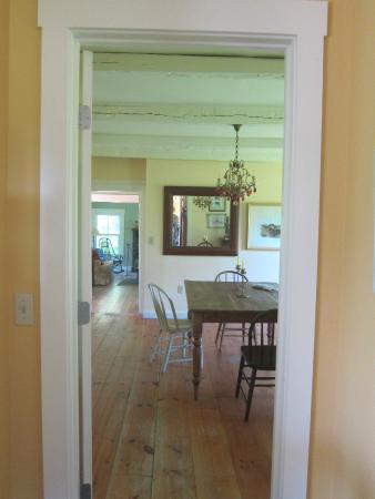Craftsbury Common, VT: View from Kitchen to Dining Room