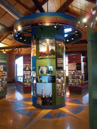 Frederick Visitor Center : We have 2,200 sq. ft. of exhibit space.